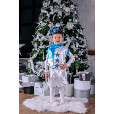 Новогодний костюм снеговика 2,5 - 4 года