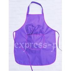 Фартук детский для уроков труда 5-12лет, фиолетовый.