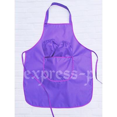 Фартук детский для уроков труда 5-11 лет, фиолетовый.