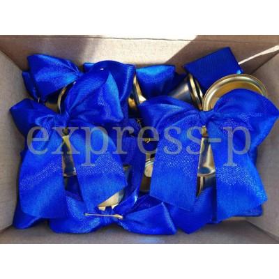 Большой колокольчики для первоклассников с синей лентой