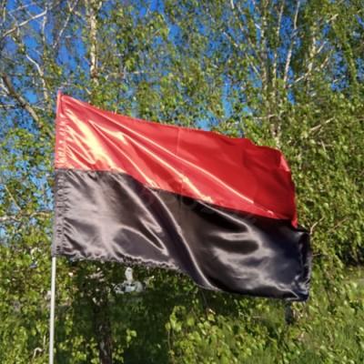 Флаг красно-черный, УПА 90*140см атлас