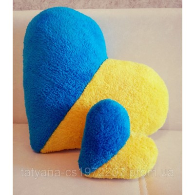 Подушка сердце флаг Украины (38 см)