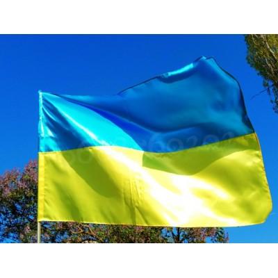 Флаг Украины 90 * 140 см атласный