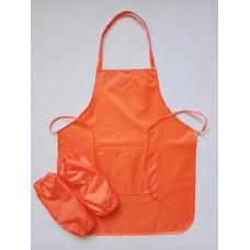 Фартук для труда 5-12лет, оранжевый.