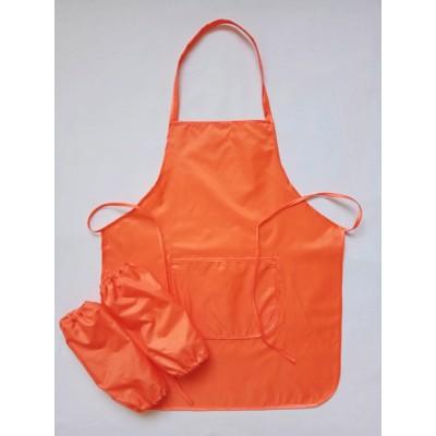 Фартук для труда 5-11 лет, оранжевый.