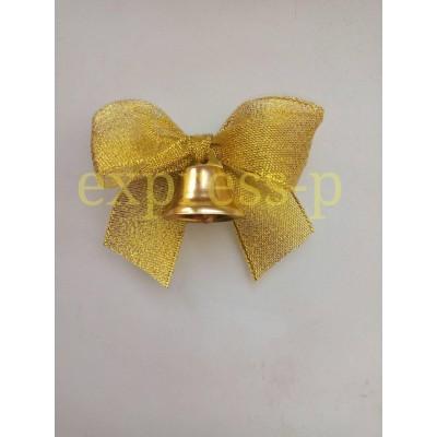 Большой колокольчики для выпускников школ с золотой лентой