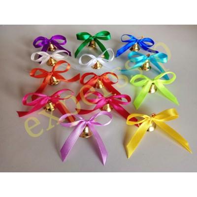 Колокольчики для первоклассников с цветной лентой