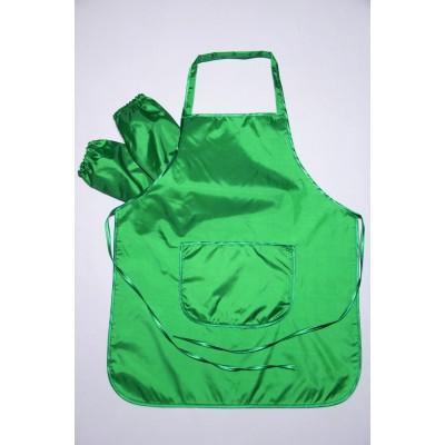Фартук для труда и творчества 5-11 лет, зелёный.