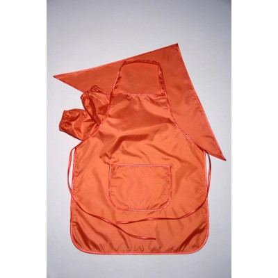 Фартук для труда и творчества с косынкой 5-11 лет (оранжевый)