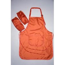 Фартук для труда подростковый 11-18 лет, оранжевый.