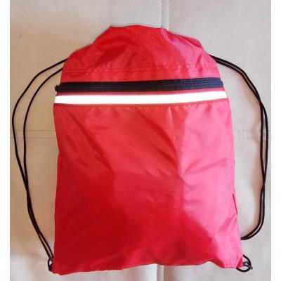 Рюкзак-мешок для обуви, школьной и спортивной формы, красный