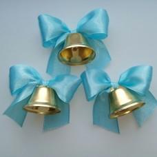 Колокольчики для выпускников, первоклассников, голубой