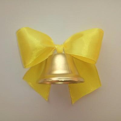 Колокольчики для выпускников, первоклассников, жёлтый