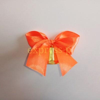 Колокольчик 35мм оранжевым  с бантиком