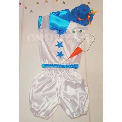 Новогодний костюм снеговика 3-5 лет