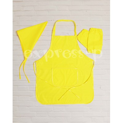 Фартук для труда и творчества с косынкой 5-12лет (лимонный)