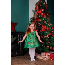 Карнавальный костюм-платье Ёлочки для девочки